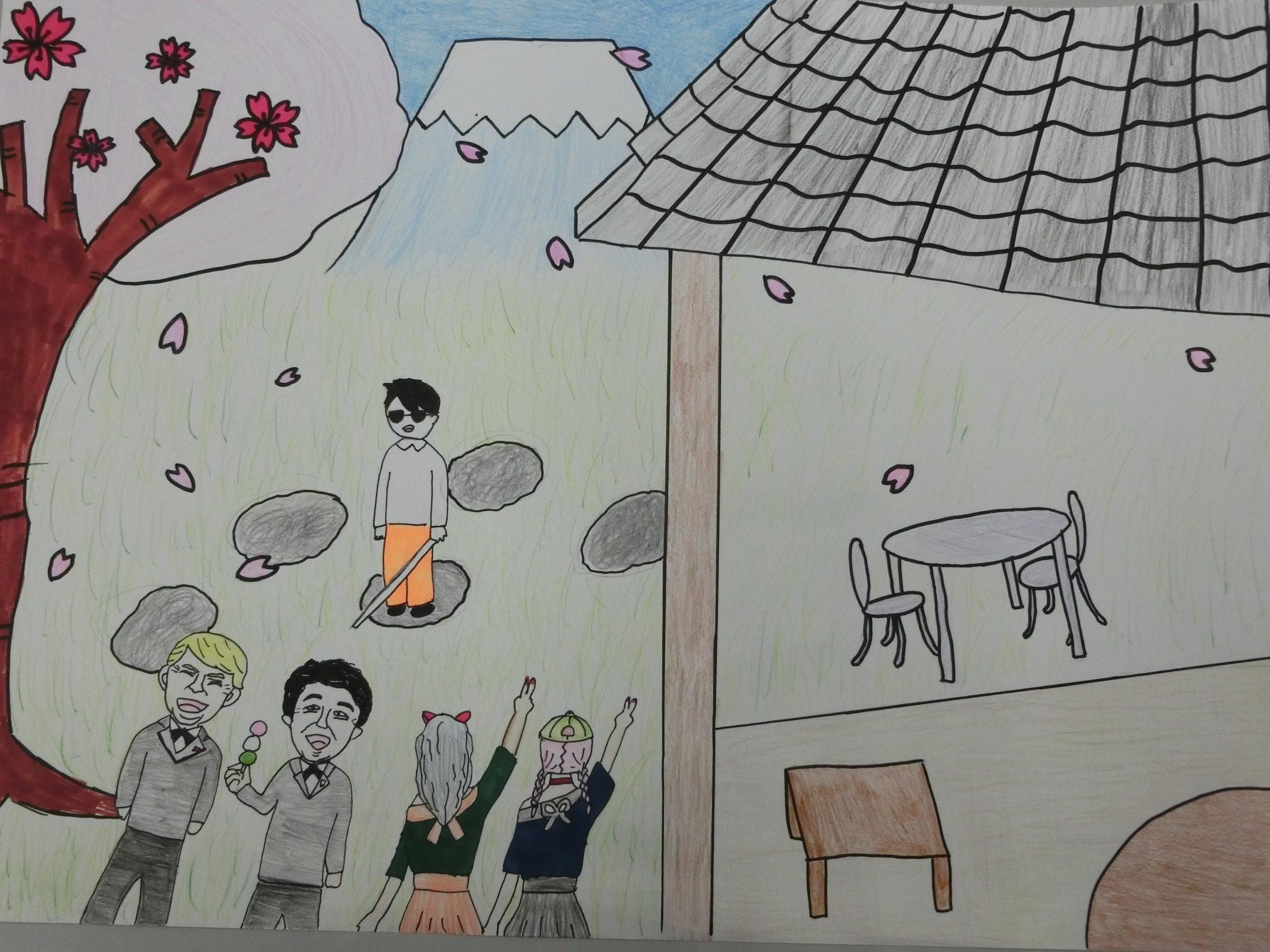 """""""蒲原中学校1年生が想う10年後の蒲原"""" 1年2組 1班"""